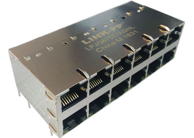 Conector 1000Base-T de LPJG67011AGNL 2x6 POE RJ45 con LED IEE802.3at