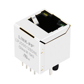 China LPJD4012BENL, RJ45 vertical Jack, 1CT: 1CT, 8P8C 10/100Mbps, escudo LED GY distribuidor